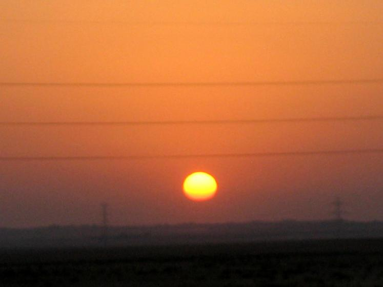 World Travel Photos :: Jordan - Misc :: Sunset over the Desert Road-Jordan