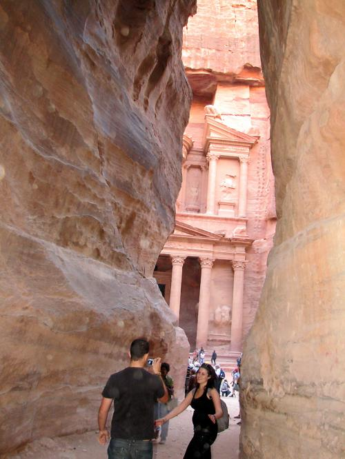World Travel Photos :: Jordan - Petra :: Petra. Fragment of the Treasury
