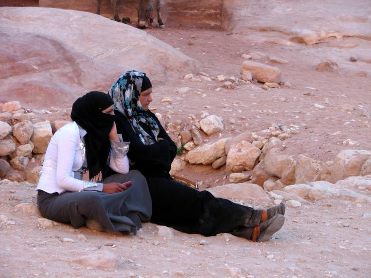 World Travel Photos :: Jordan - Petra :: Petra. Local women