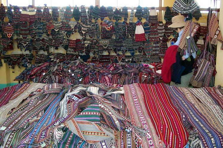 World Travel Photos :: Garth :: Peru. Lake Titicaca - local crafts