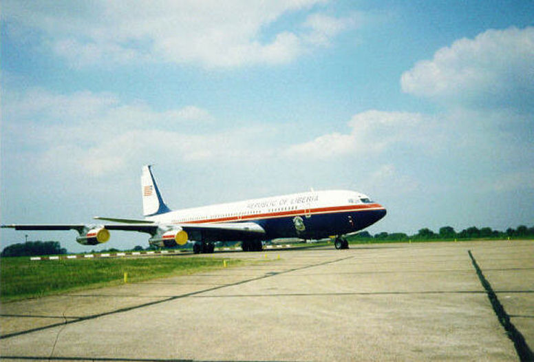 World Travel Photos :: Liberia - Misc :: Liberian Presidential plane  , Liberia west Africa