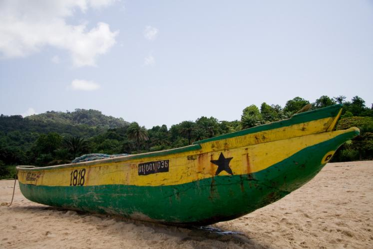 World Travel Photos :: Liberia - Misc :: Liberia´s Beaches - a boat