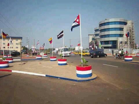 World Travel Photos :: Liberia - Monrovia :: Liberia, Africa - Liberian flags