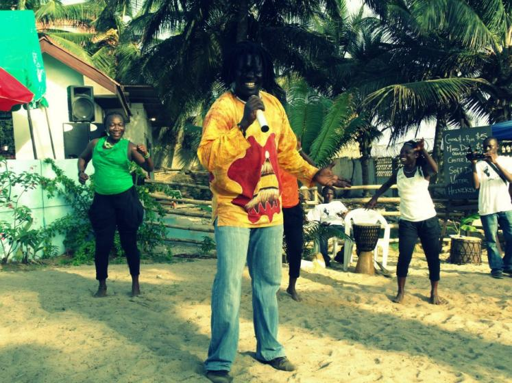 World Travel Photos :: Liberia - Monrovia :: Liberia, Africa - a beach party