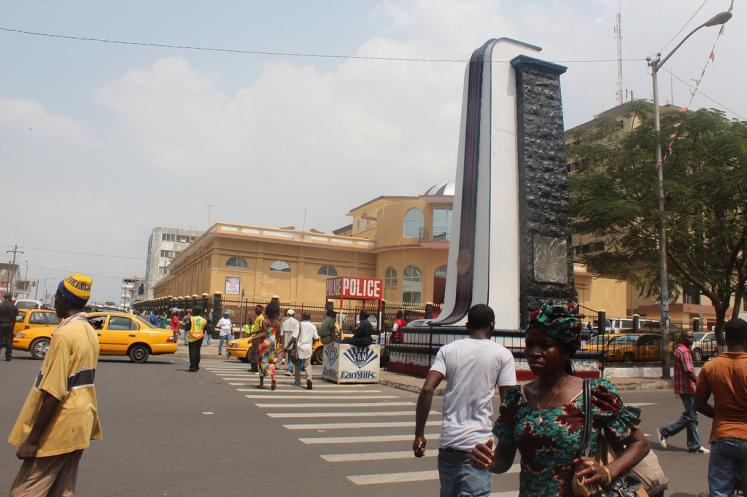 Liberia Monrovia West Africa A Police Station Travel Pictures Cities N13525