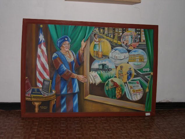 World Travel Photos :: Liberia - Monrovia :: Painting of Liberian President