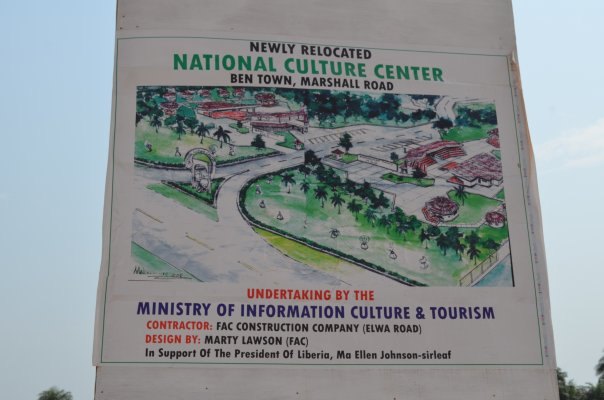 World Travel Photos :: Liberia - Monrovia :: A new culture center is being constructed at in Ben Town, on the Road to Marshall
