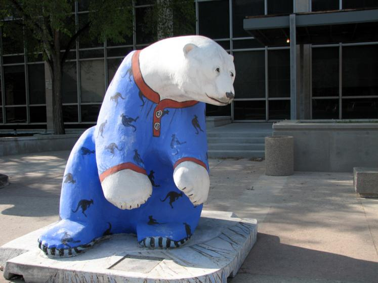 World Travel Photos :: Canada - Manitoba - Winnipeg :: Winnipeg. A bear in pajamas