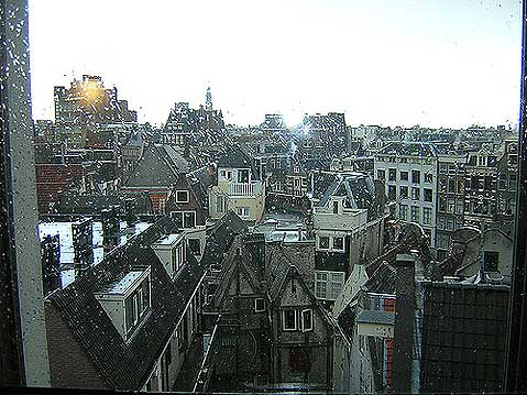 World Travel Photos :: Panoramic views :: Amsterdam. View from window