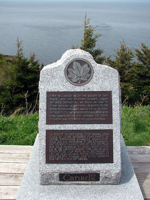 World Travel Photos :: Military Theme :: Nova Scotia. Cape Breton - war memorial