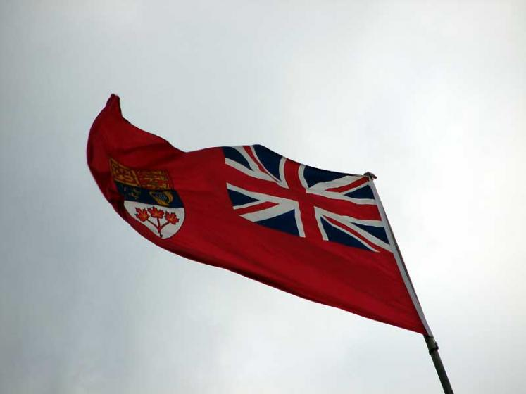 World Travel Photos :: Canada - Nova Scotia - Lunenburg :: Lunenburg. Pre February 1965 Canadian flag