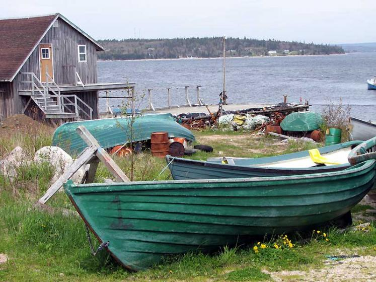 World Travel Photos :: Canada - Nova Scotia - Misc :: Nova Scotia. Boats before the season