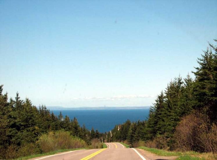 World Travel Photos :: Roads :: Nova Scotia. Sunrise Trail