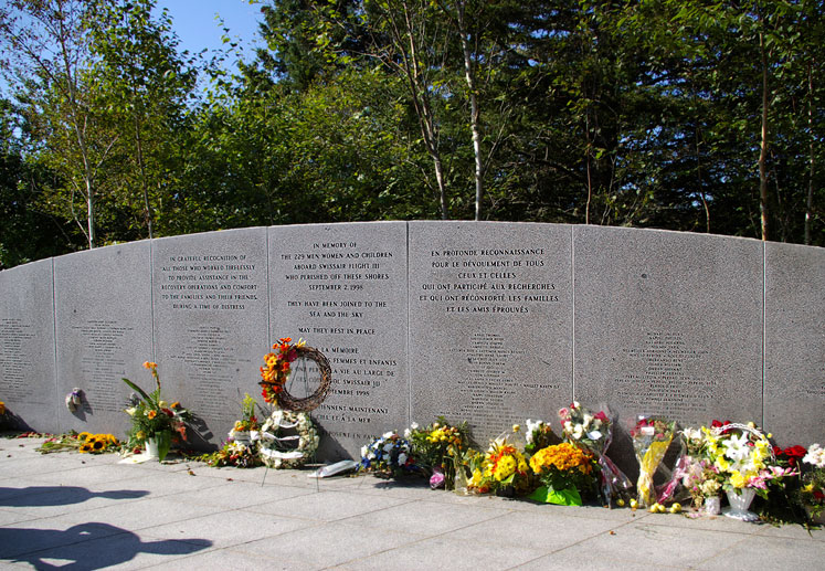 World Travel Photos :: Romsan :: Nova Scotia. A memorial of Swissair Flight 111