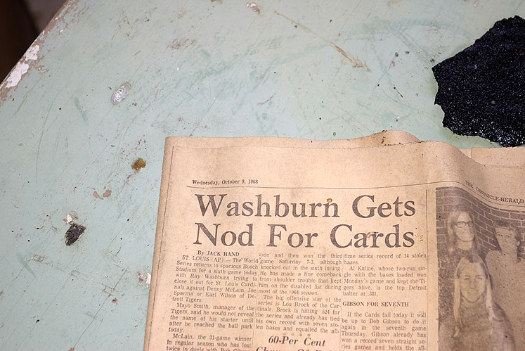 World Travel Photos :: Romsan :: Nova Scotia - an old newspaper