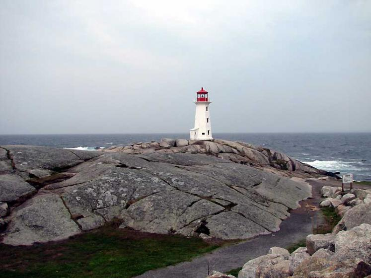 World Travel Photos :: Lighthouses :: Peggy´s Cove - stormy day
