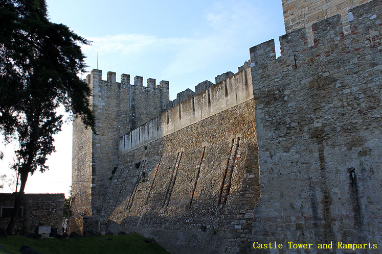 World Travel Photos :: Portugal - Lisbon :: Lisbon. Castle of São Jorge - castle tower and ramparts