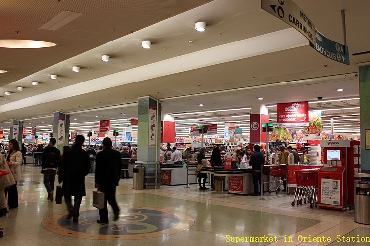 World Travel Photos :: Joseph :: Lisbon - supermarket at the Oriente Station