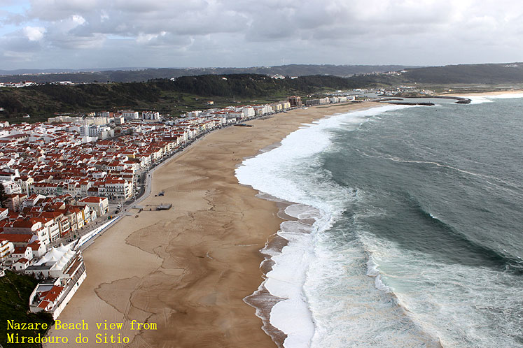 World Travel Photos :: Joseph :: Portugal. Nazare beach from Miradouro do Sitio
