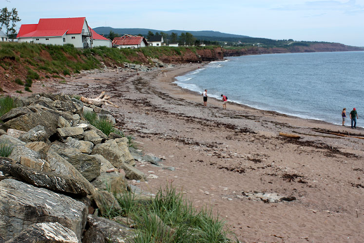 World Travel Photos :: Beaches :: Gaspé Peninsula - one of many beaches along the shore