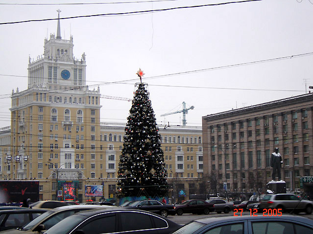 World Travel Photos :: Christmas :: Moscow. Triumfalnaya Square