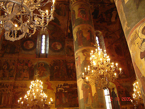 World Travel Photos :: Uspensky Cathedral  :: Moscow. The Cathedral of the Dormition (Uspensky Cathedral) Interior