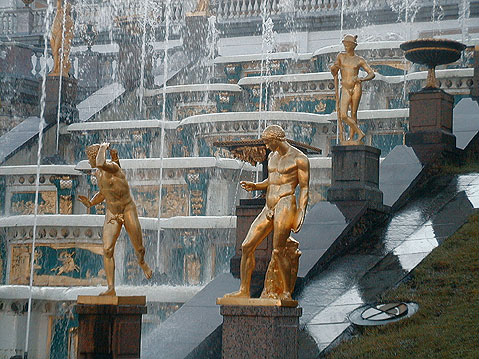 World Travel Photos :: Peterhof :: St. Petersburg. Petergof - Grand Cascade fountains