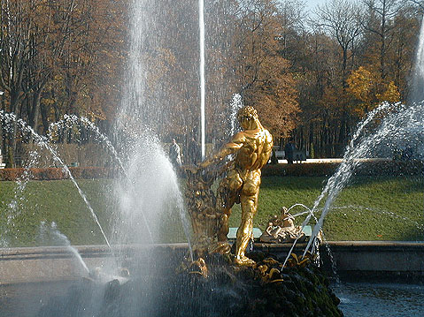 World Travel Photos :: Russia - St. Petersburg :: S.t Petersburg. Peterhof. Samson Fountain
