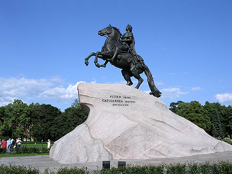 World Travel Photos :: The Bronze Horseman  :: St. Petersburg. Peter´s the Great Monument - The Bronze Horseman