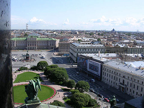 World Travel Photos :: Russia - St. Petersburg :: St. Petersburg. View from Isaky Cathedral