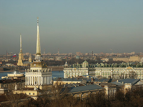 World Travel Photos :: Panoramic views :: St. Petersburg. View on Admiralty Building
