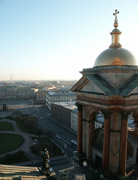 World Travel Photos :: Russia - St. Petersburg :: St. Petersburg. View on Saint Isaac´s Square from the Top of Saint Isaac´s Cathedral
