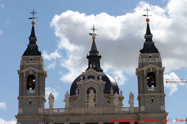 World Travel Photos :: Spain - Madrid :: Madrid. La Almudena Cathedral Bell Tower