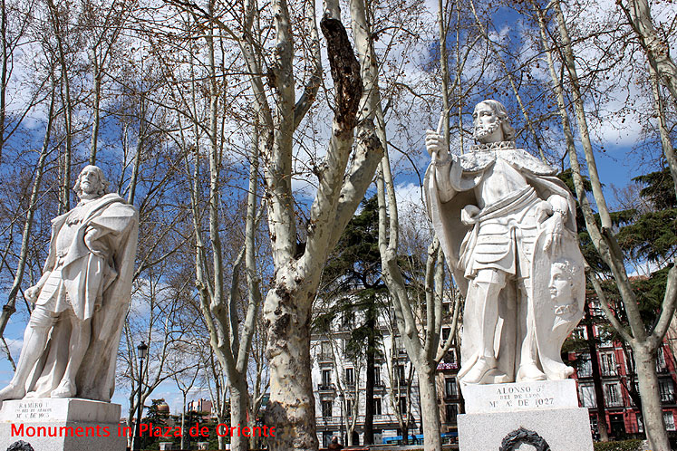 World Travel Photos :: Spain - Madrid :: Madrid. Monuments at Plaza de Oriente