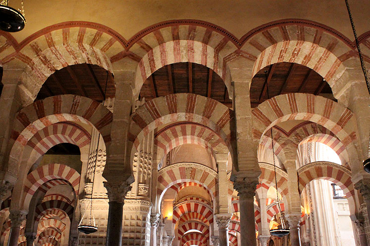 World Travel Photos :: Spain - Cordoba :: Spain. Great Mosque of Córdoba - a ceiling view