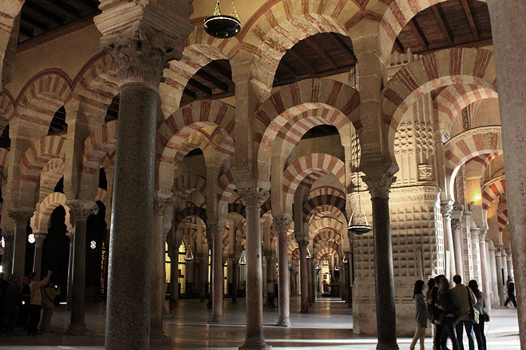 World Travel Photos :: Spain - Cordoba :: Spain.  Great Mosque of Córdoba - natural lighting