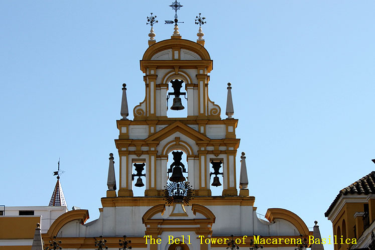 World Travel Photos :: Spain - Seville :: Seville. The Bell tower of Macarena Basilica