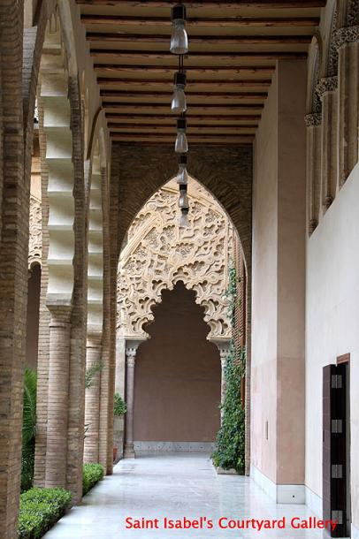 World Travel Photos :: Spain - Zaragoza :: Spain. Zaragoza - Aljafería Palace - St. Isabel´s Courtyyard Gallery
