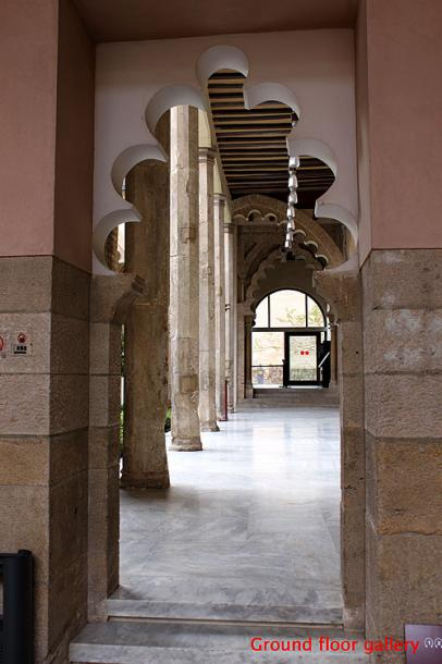 World Travel Photos :: Spain - Zaragoza :: Spain. Zaragoza - the Aljafería Palace  - a ground floor gallery