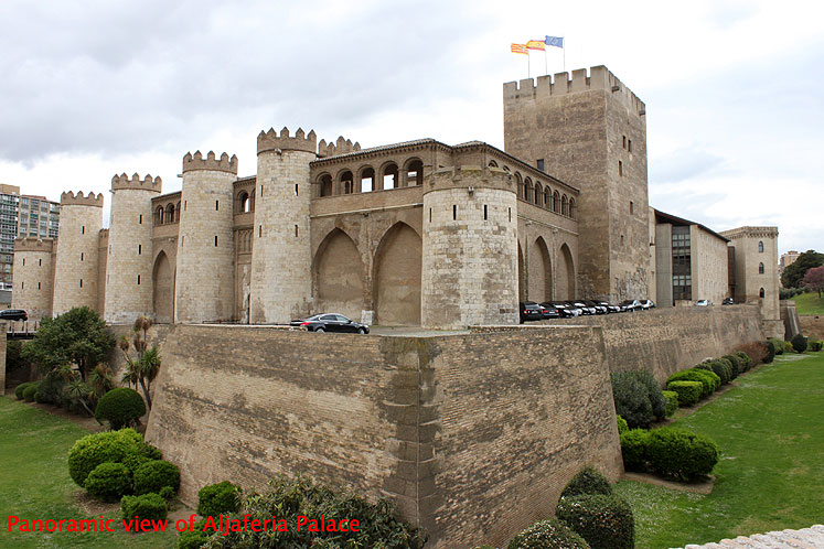 World Travel Photos :: Castles & palaces :: Spain. Zaragoza - panoramic view of Aljaferia Palace