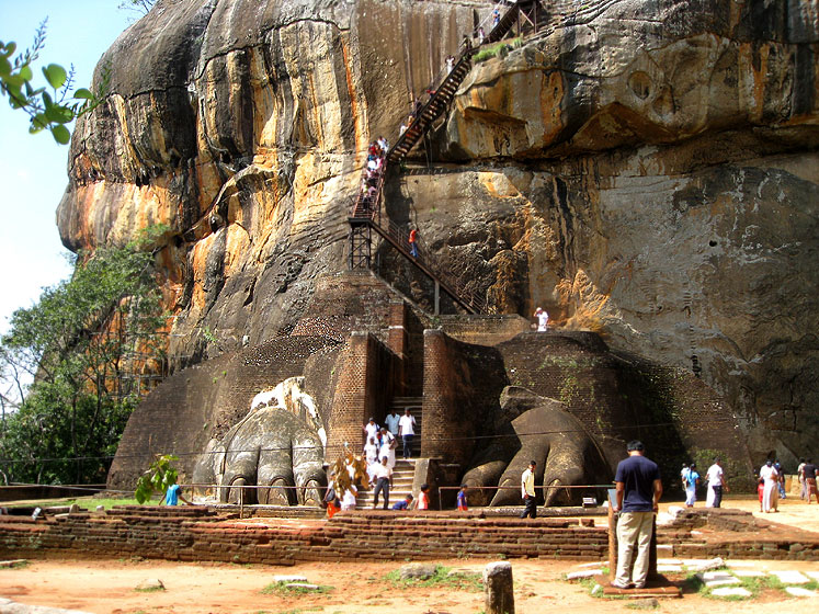 World Travel Photos :: UNESCO World Heritage Sites :: Sri Lanka. One of the entrances to Sigiriya - UNESCO