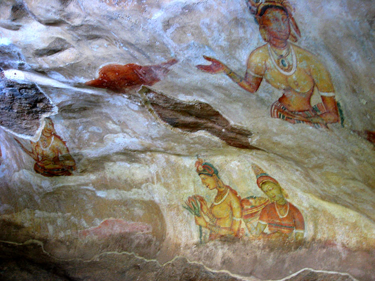World Travel Photos :: Ancient world :: Sri Lanka. Sigiriya is famous for its ancient paintings.