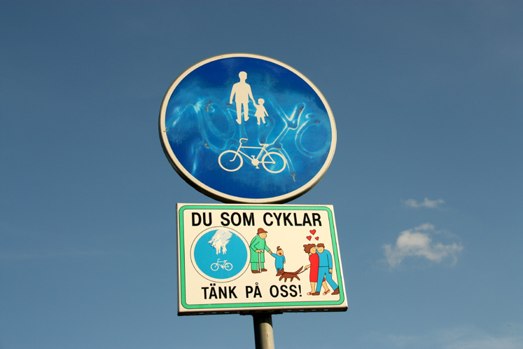 World Travel Photos :: Sweden - Stockholm :: A road sign in Stockholm
