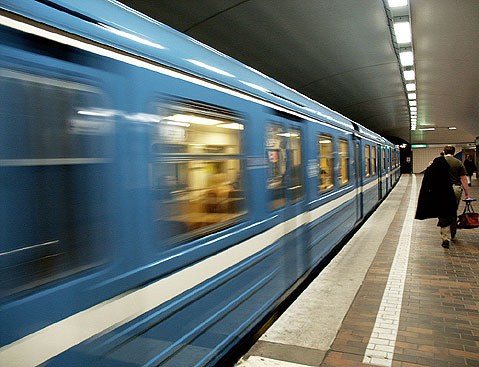 World Travel Photos :: Sweden - Stockholm :: A subway train in Stockholm