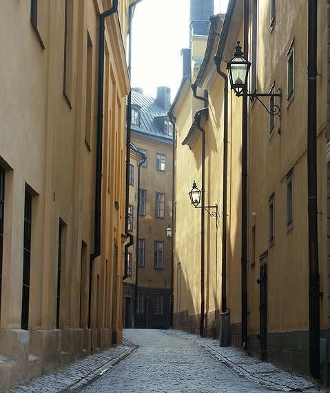 World Travel Photos :: Sweden - Stockholm :: A street in Stockholm