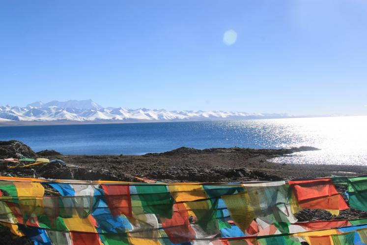 World Travel Photos :: Tibet :: Prayer Flags at Lake Namtso