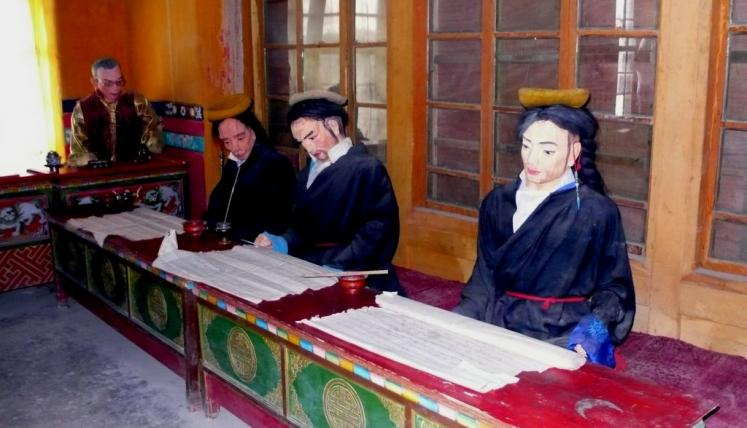 World Travel Photos :: Tibet :: Tibet. Study chamber for monks