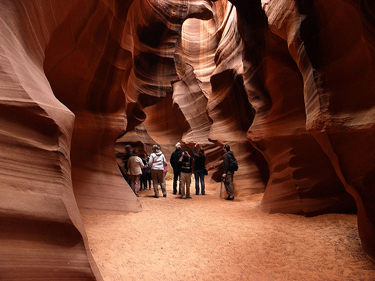 World Travel Photos :: The most beautiful natural spots :: Arizona. Antelope Canyon - in a cave