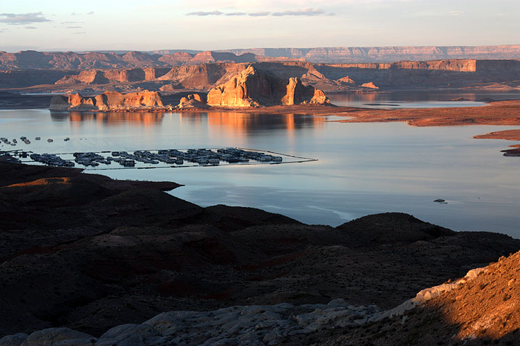 World Travel Photos :: Sunsets :: Arizona. A sunset at Lake Powell