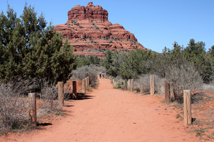 World Travel Photos :: USA - Arizona - Sedona :: Arizona. Sedona - a path leading to the Bell Rock